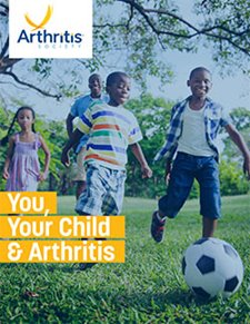 "Photography of kids running - first page of the PDF ""You, Your Child and Arthritis"""
