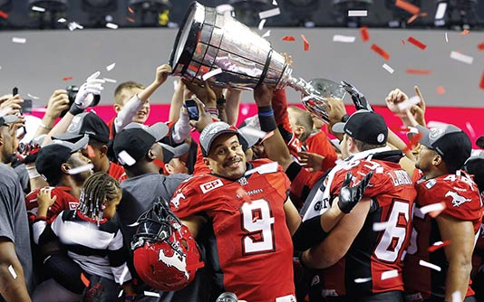 Photography of the two-time Grey Cup champion