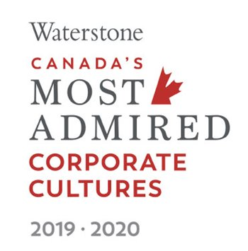 Logo of Waterstone Canada's Most Admired - Corporate Cultures 2019